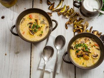 рассольник рецепт , Грибной крем-суп