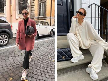 Модні аутфіти з білими кросівками