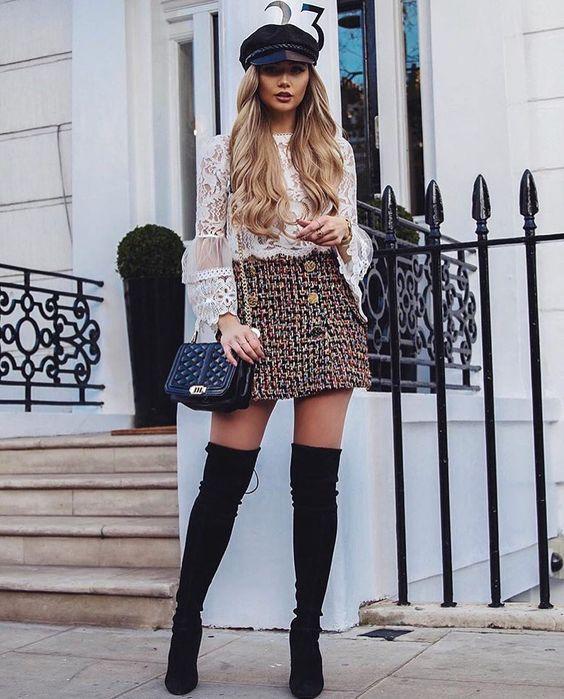 Короче, юбку покороче: с чем носить юбку мини зимой