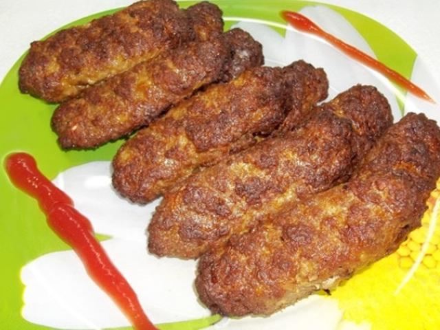 Люля кебаб из свиного фарша в духовке