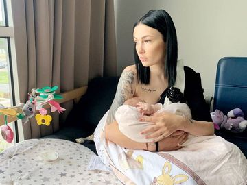 Анастасия Приходько с детьми