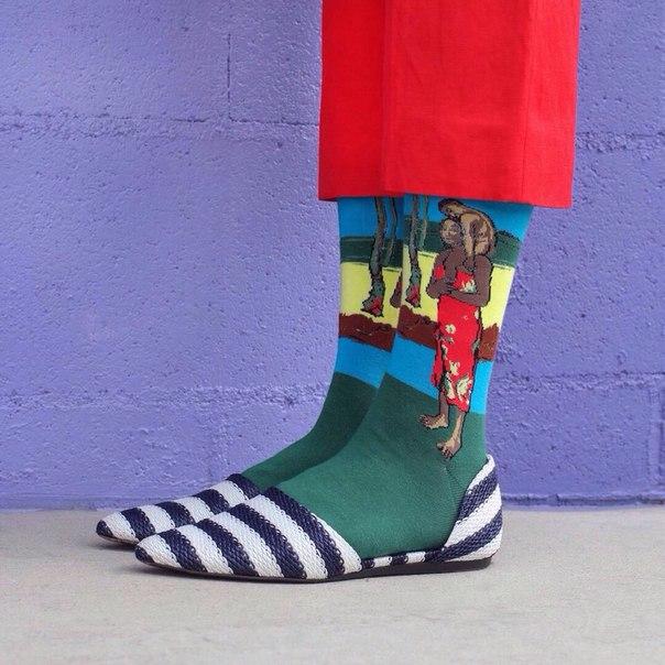 Приобщайся к прекрасному. Шедевры живописи на носках