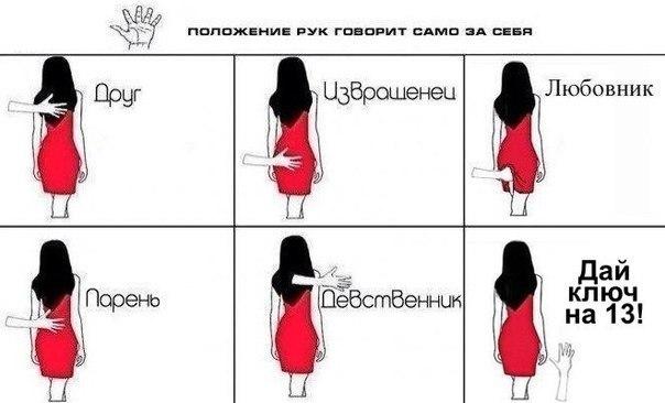 Комикс про мужские руки и девушек