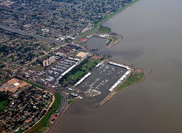 Города выше и ниже уровня моря: Новый Орлеан, США