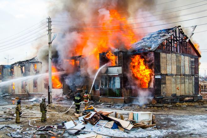 Техника безопасности при пожаре