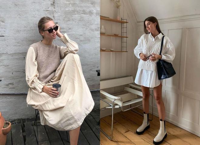 С чем носить вязаные жилеты в повседневных образах