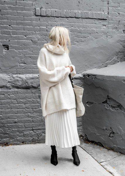 Как носить свитер зимой