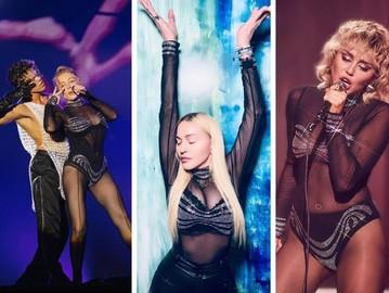 Тіна Кароль, Мадонна і Майлі Сайрус в однаковому вбранні