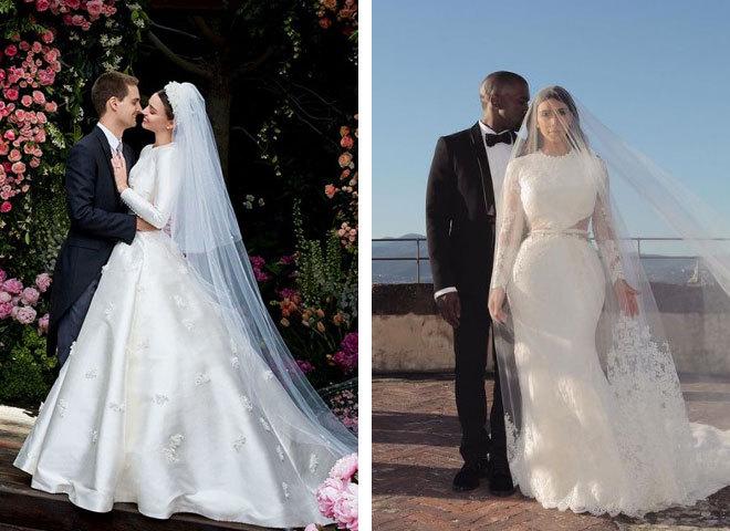Найкрасивіші весільні сукні зірок