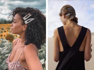 Зачіски з великими шпильками на літо