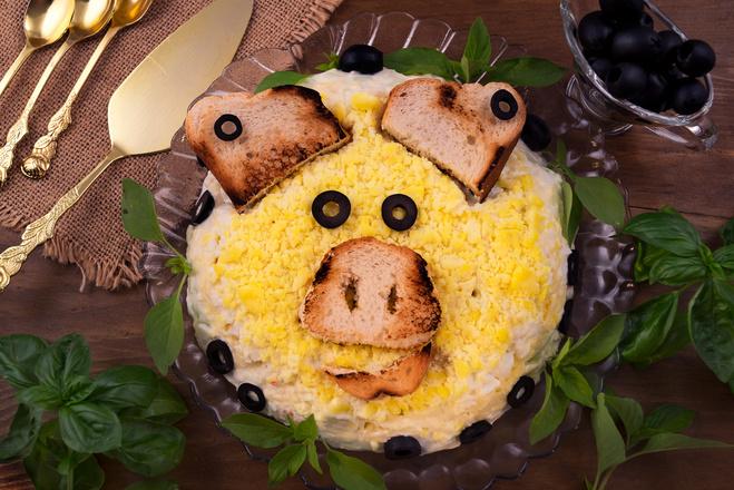 Блюда на Новый год Свиньи 2019