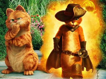 Гарфилд и Кот в сапогах