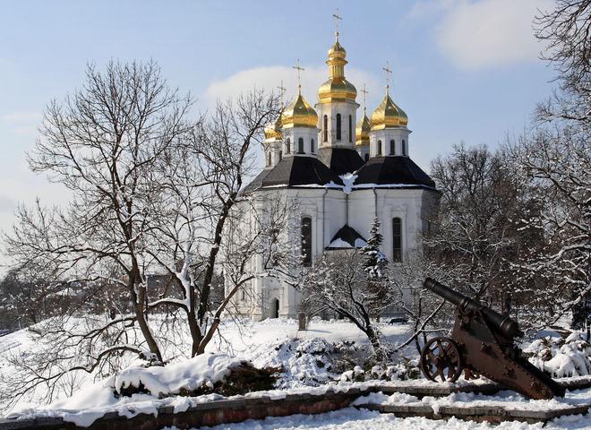 Чарівна зима в містах України