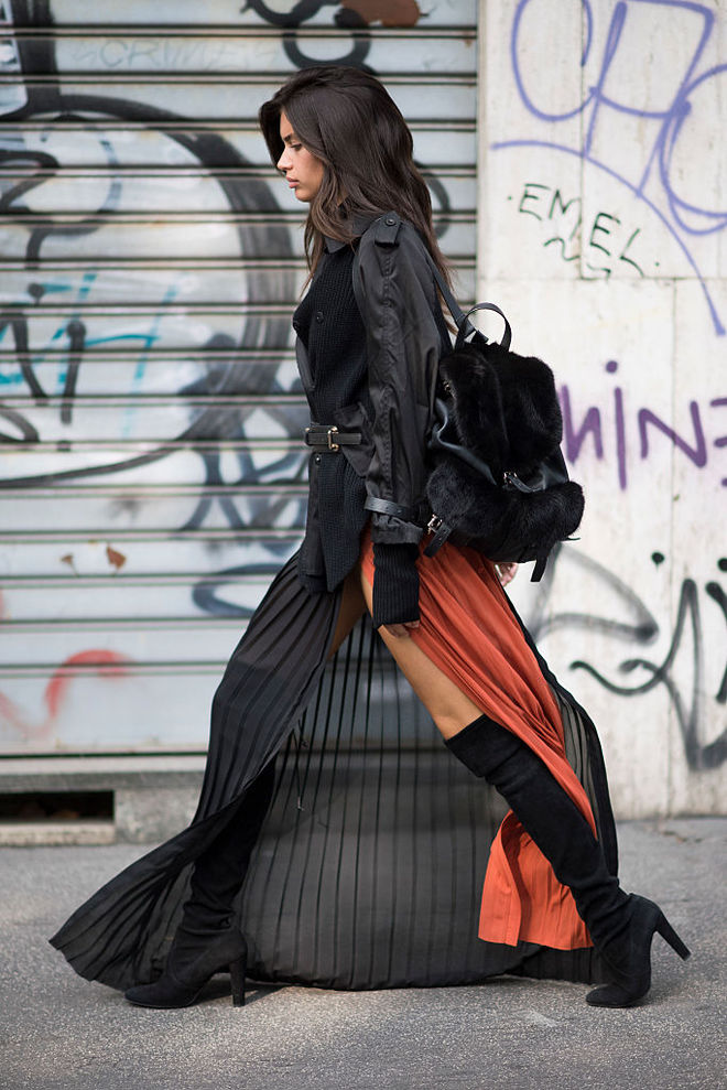 З чим носити плісовану спідницю: Сара Сампайо
