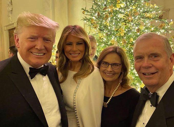 Мелания Трамп на рождественском балу
