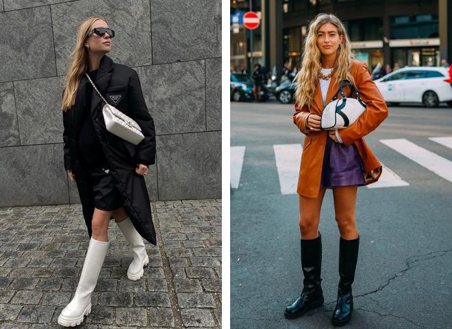 Гумові чоботи та черевики — тренд сезону