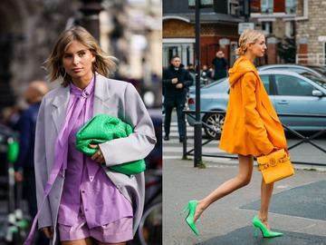 Модные акцентные оттенки в гардеробе на осень 2020