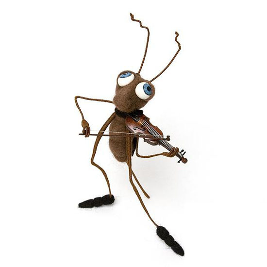 Позитивные насекомые из войлока Ирины Егоровой