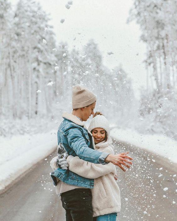 ТОП-15 фото со снегом в твоей ленте