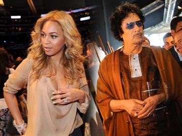 Муаммар Каддафи и Бейонси