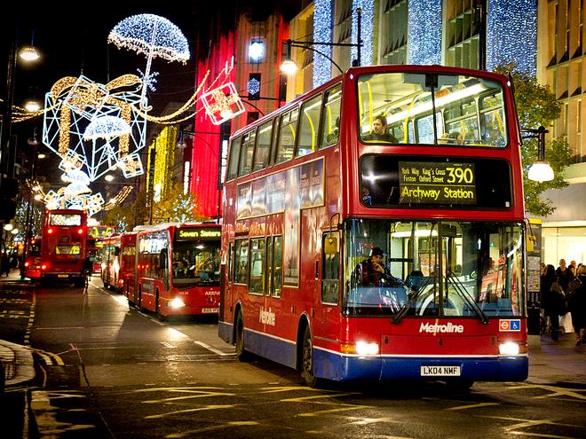 Різдвяна ілюмінація в містах: Лондон