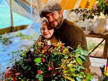 Девід Бекхем з дочкою Харпер