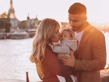 Никита Добрынин и Даша Квиткова с сыном Львом