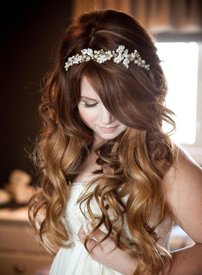 свадебные прически с распущенными волосами видео