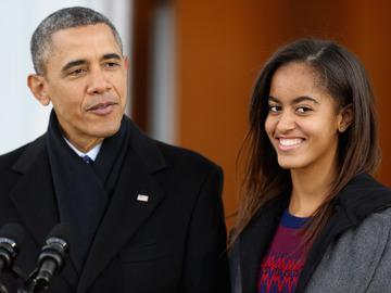Малия Обама и Барак Обама (Cover)