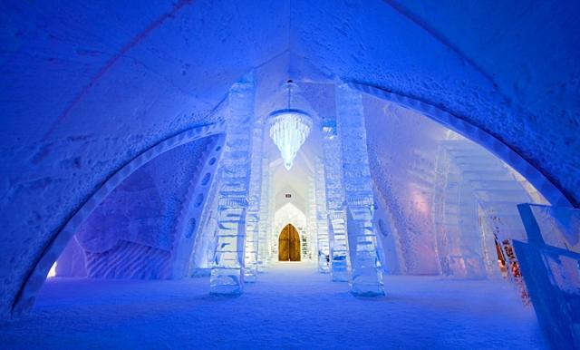 Необычные номера в отелях: «ледяной номер», Hotel de Glace, Канада