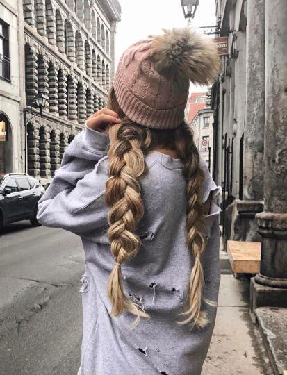 Зачіски під шапку на зиму
