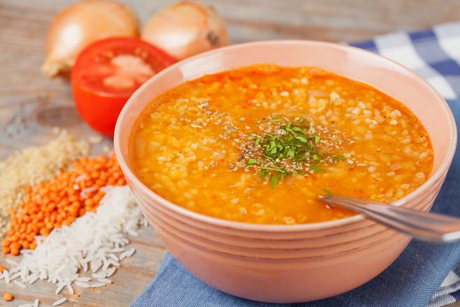 Блюда из чечевицы в мультиварке, суп
