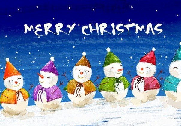 Прикольная открытка с Рождеством