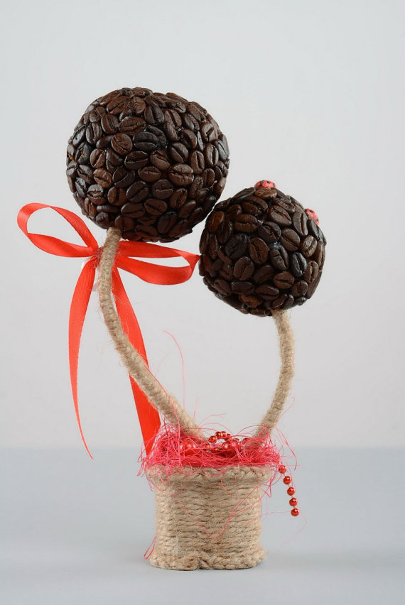 Дерево з кавових зерен власноруч