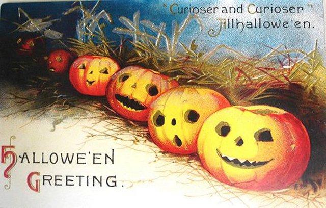 Ретро открытки на Хэллоуин 2015