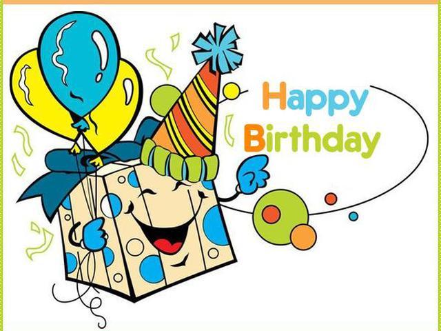 Поздравление с днем рождения в открытке на английском, звездочки