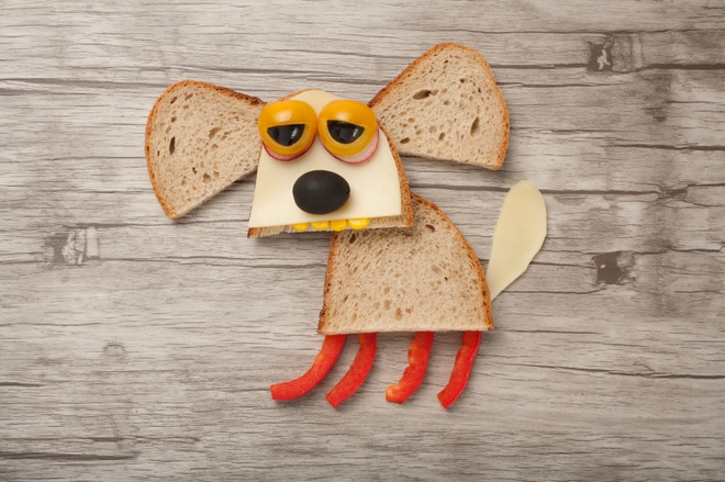 Украшения блюд в виде Собаки на Новый год 2018