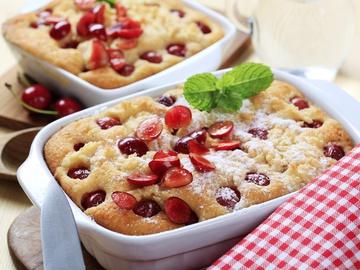 Пирог с черешнями