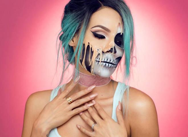 Шкіра, що плавиться: оригінальний макіяж на Хеллоуїн (відео)
