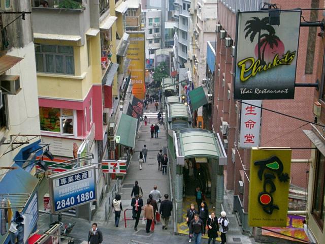 Достопримечательности Гонконга: Mid-Levels Escalator