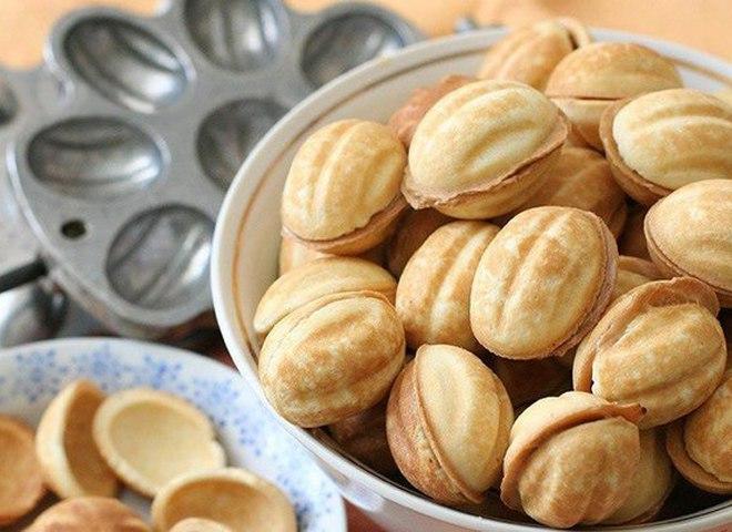 Орешки со сгущенкой рецепт с фото