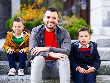 Григорий Решетний с сыновьями