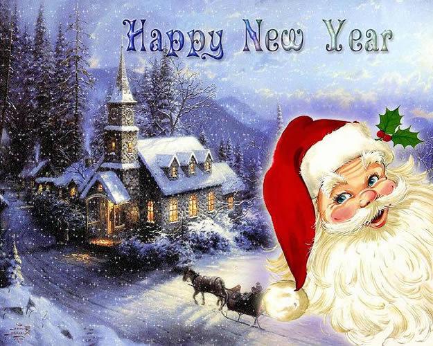Красивая открытка к Новому году