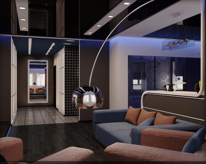 Квартира в клубному стилі