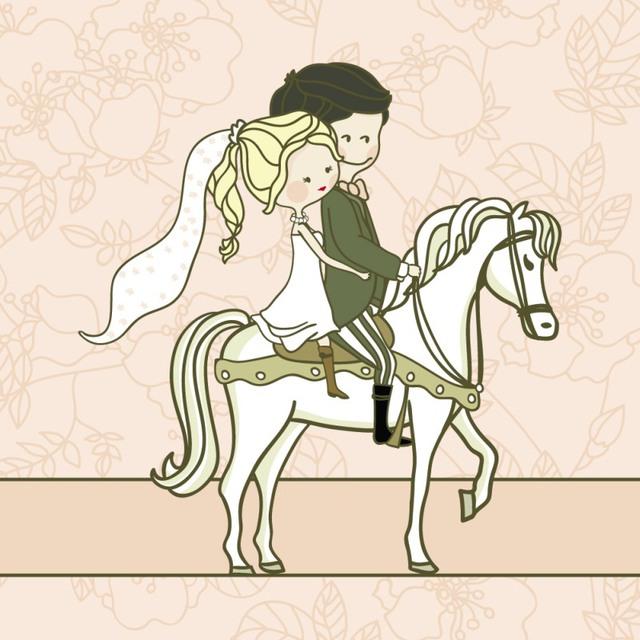 Открытка со свадьбой