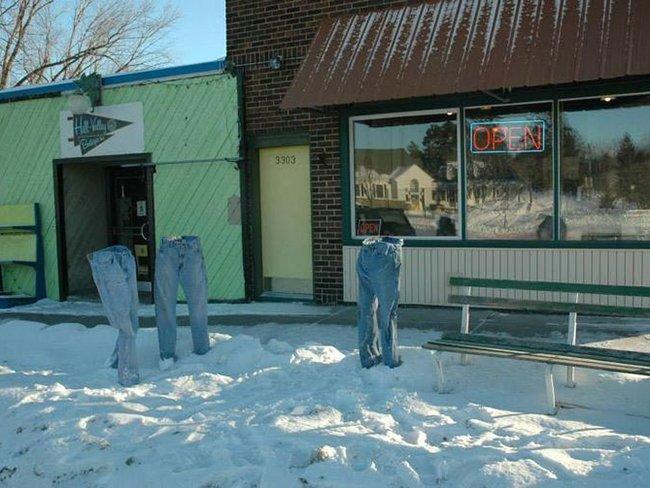 Новая мода из Америки - замороженные штаны