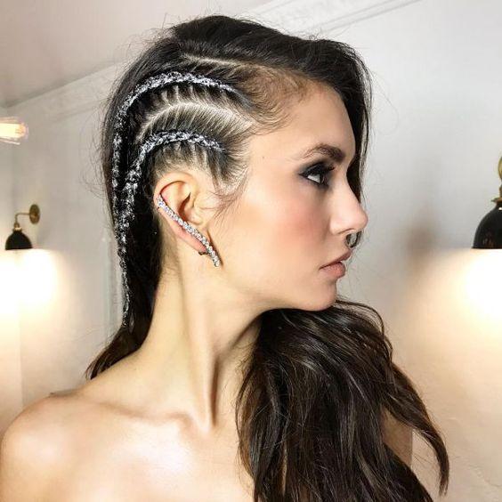 Глиттер в волосах