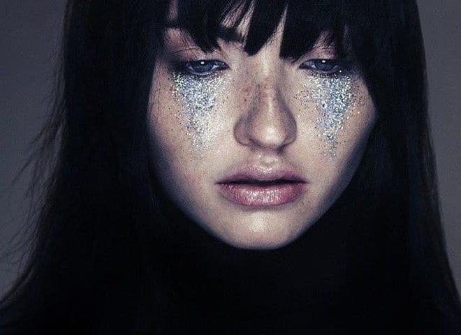 глиттер-слезы