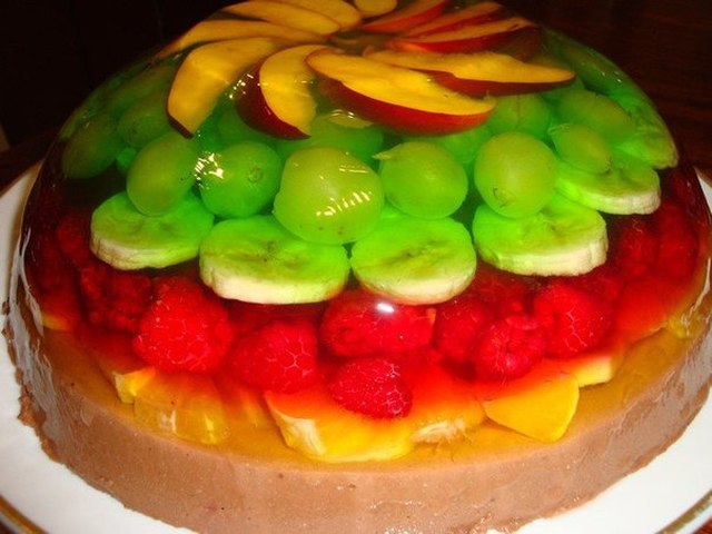 Желейные десерты и торты с фото