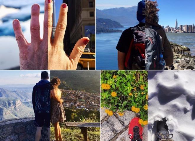 HalfHalfTravel: коллажи влюблённой пары, путешествующей врозь, стали хитом в Instagram